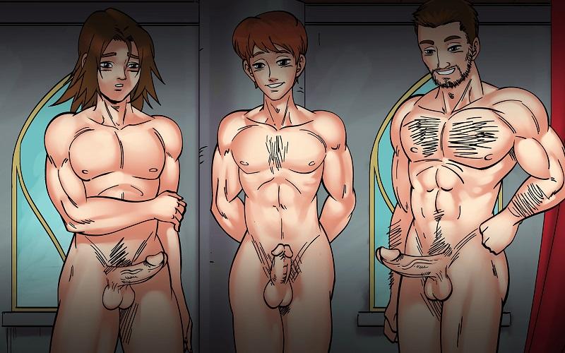 3 big gay harem yaoi dicks