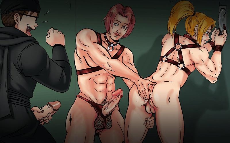 gay yaoi boyfriend playing with asshole